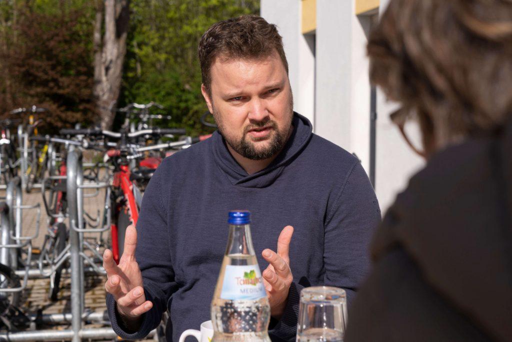 Mit Philipp Schwarze im Gespräch in seinem Outdoor-Büro